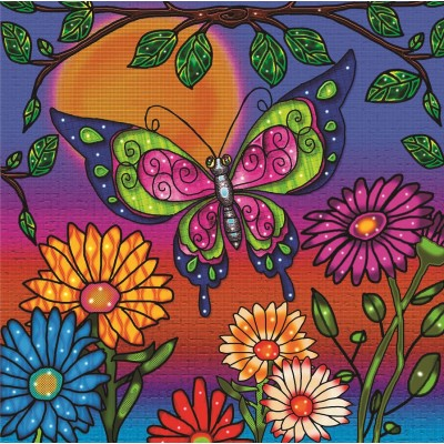 BUTTERFLY by: ANIE MALTAIS 12'' x 12''