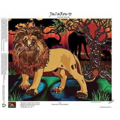 Diamond painting Lion 19.5'' x 15.75''