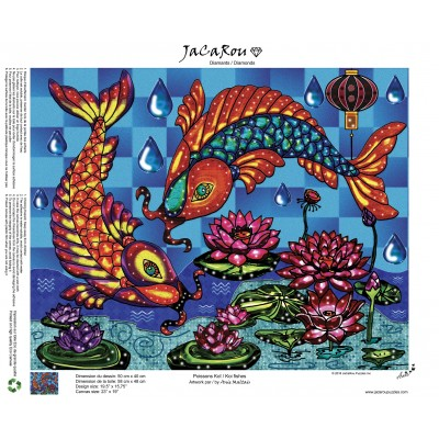 Diamond painting Koi fishes 19.5'' x 15.75''