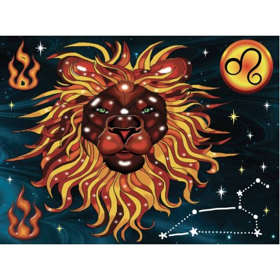 Broderie de diamants LION 40 cm x 30 cm