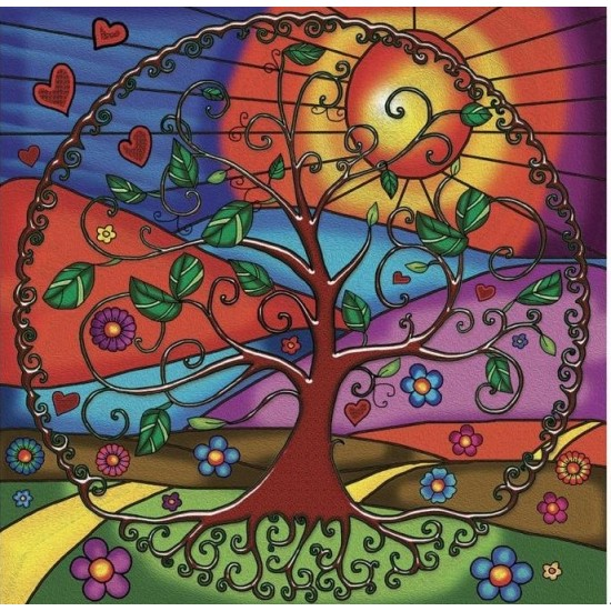 TREE OF LIFE par: ANIE MALTAIS 12'' x 12''