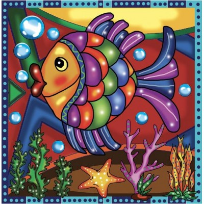 Broderie de diamants POISSON 30 cm x 30 cm