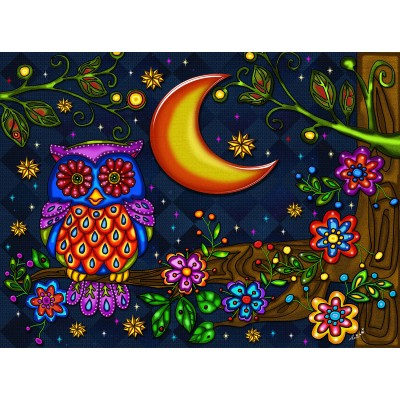 OWL NIGHT LONG 1000 pieces jigsaw puzzle