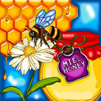 HONEY BEE by: ANIE MALTAIS 12'' x 12''