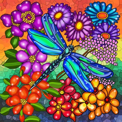 DRAGONFLY by: ANIE MALTAIS 12'' x 12''