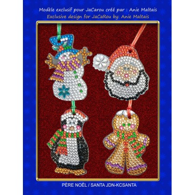 Christmas Decorations Kit SANTA by Anie Maltais