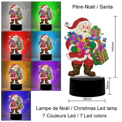 40% OFF - Diamond painting kit lamp SANTA