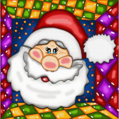 40% OFF - SANTA by: ANIE MALTAIS 12'' x 12''