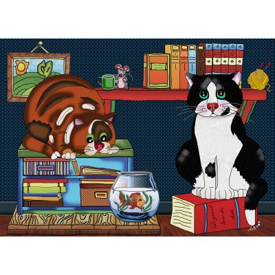 CAT LOVE 500 pieces jigsaw puzzle