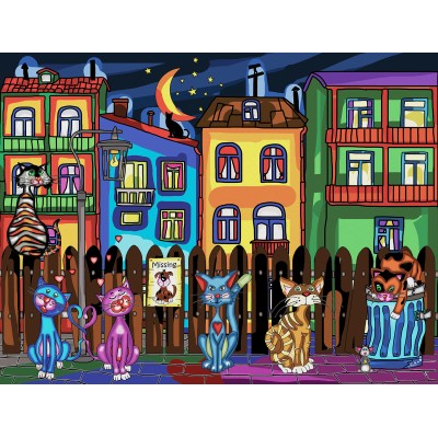 CATS' NIGHT OUT 1000 pieces jigsaw puzzle