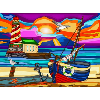 FAR AWAY LIGHTHOUSE 1000 PCES jigsaw puzzle by Anie Maltais