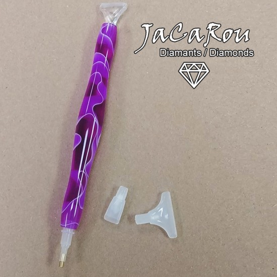 Stylet pour diamond painting FUSHIA