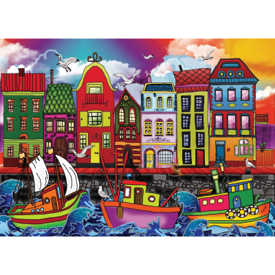 FISHING PORT 2000 pieces jigsaw puzzle