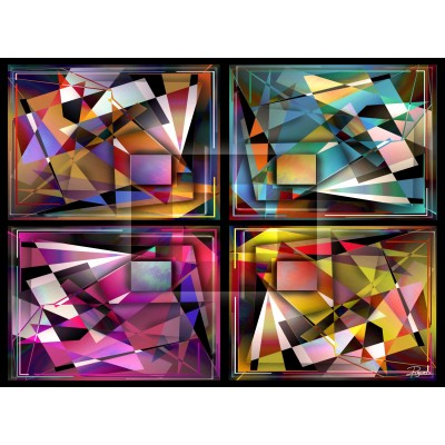 BLING BLING ABSTRACT 1000 PCES jigsaw puzzle by PUGUESS