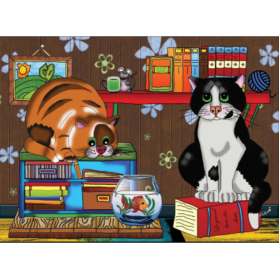 TWO CATS, A FISH AND A MOUSE, 300 XXL pieces jigsaw puzzle