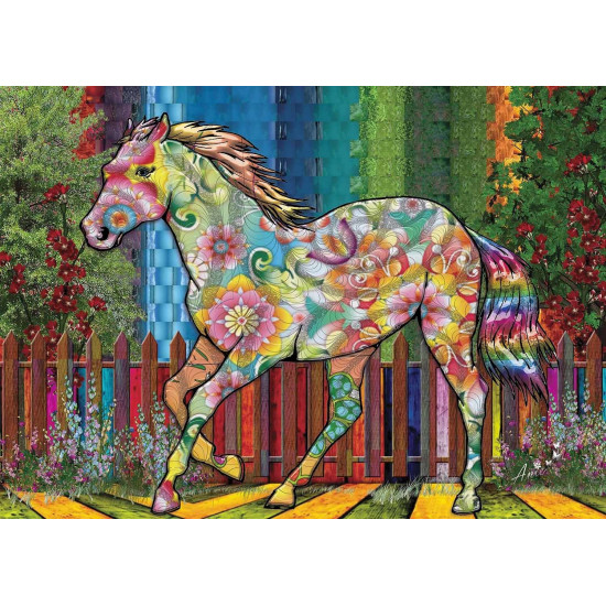 FLOWER HORSE 1000 pieces jigsaw puzzle