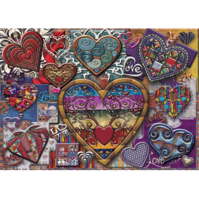 HEARTS OF GLASS 1000 pieces jigsaw puzzle