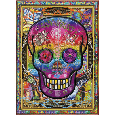 RAINBOW SKULL 1000 pieces jigsaw puzzle