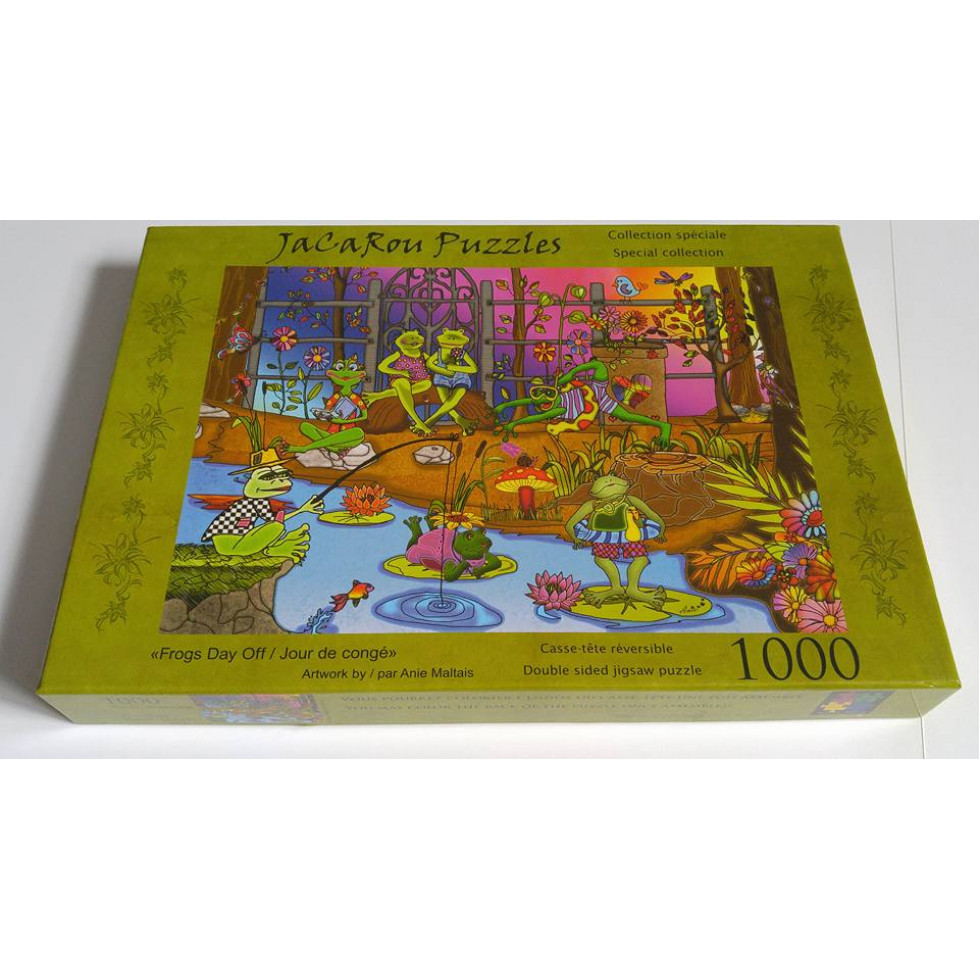 frogs day off jigsaw puzzle. Black Bedroom Furniture Sets. Home Design Ideas