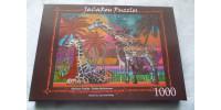 RAINBOW GIRAFFES 1000 pieces jigsaw puzzle