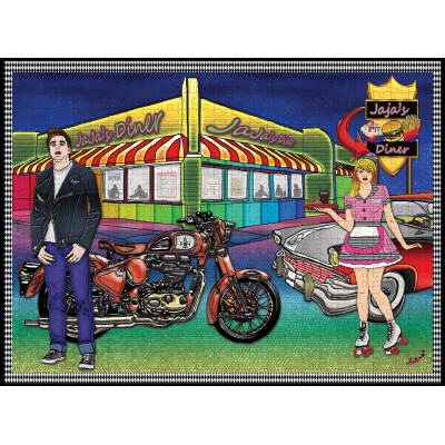 JAJA'S DINER 200 larger pieces jigsaw puzzle