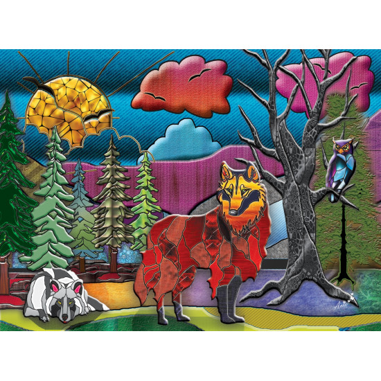 WOLVES 1000 pieces jigsaw puzzle