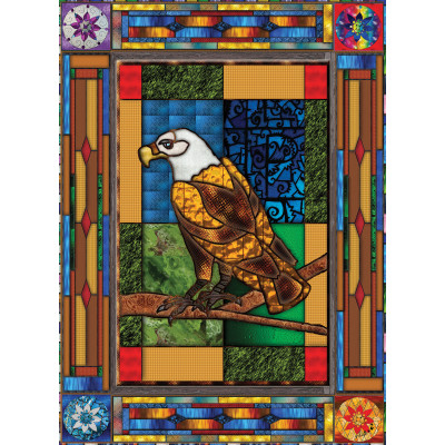 «Stained glass eagle» 1000 pieces jigsaw puzzle