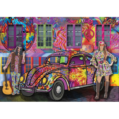 FLOWER POWER 1000 pieces jigsaw puzzle