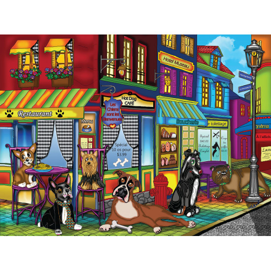 NEW DOGS ON THE BLOCK 1000 pieces jigsaw puzzle