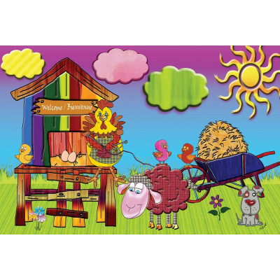 KNITTING CHICK 100 pieces jigsaw puzzle