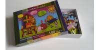 Casse-Tête 100 morceaux «Madame Poule tricote»