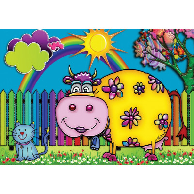 SUNNY COW 100 pieces jigsaw puzzle